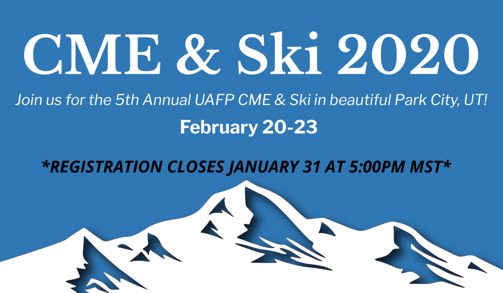CME and SKI Banner REGISTRATION CLOSES